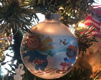 Set of two 1970's Raggedy Ann Christmas Tree Ornaments