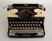 RESERVED: Gold Typewriter, Royal Standard Portable 1930s