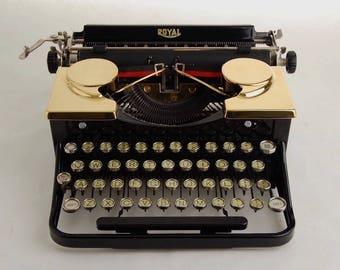 Gold Typewriter, Royal Standard Portable 1930s