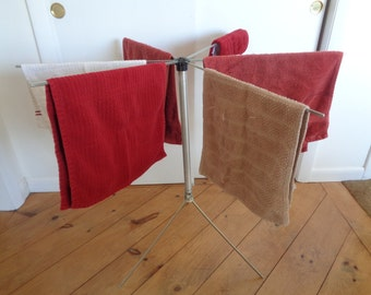 """Vintage Mid Century Folding Clothes Drying Rack """"KRISTEE DRYETTE"""" Clothes Hanging Rack,Clothes Rack"""