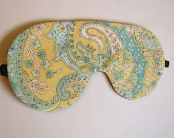 Paisley Sleeping Mask, Adjustable Sleeping Mask, Eye Mask for Sleeping, Sleeping Blindfold, Lightweight sleeping mask