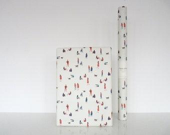 "Wrapping paper ""Promenade"" - Papier cadeau ""Promenade"""