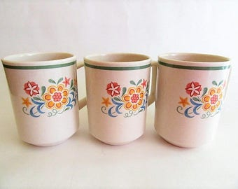Vintage Temper-ware by Lenox Quakertown Grand Coffee mugs oven safe mug w/flowers Made in USA offers considered