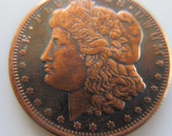 1/4 oz Morgan (Black Patina) .999 Pure Copper Challenge Coin