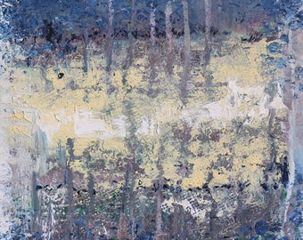 "Original Abstract Oil Painting,  ""Slab"" , 12""x9"", by  artist John Kelley"
