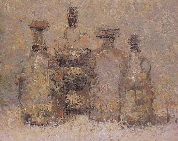 "Featured listing image: Original Still Life ,  Oil Painting ,  11x14 , ""Kraken"" , by artist John Kelley"
