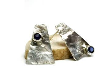 Triangle Tanzanite Earrings
