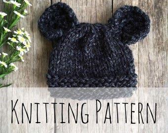 Spirit Bear Toque, Knitting Pattern,Knit Hat, Knit Hat Pattern, Pattern, Knit Bear Hat, Baby Hat, Bear, Knit Bear Beanie, Bear Ears