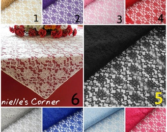Wedding tablecloth lace wedding overlay lace table topper bridal shower party table banquet table