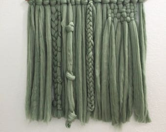 RUSH | Ivy Green Roving Woven Wall Hanging