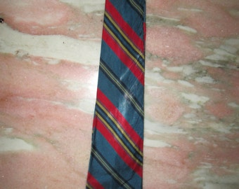 Vintage 1960's Men's Necktie Brilliant Stripes