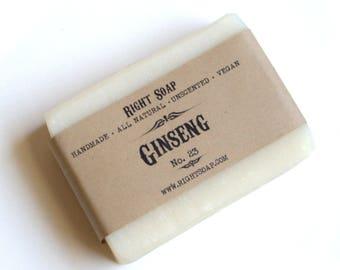 Ginseng Soap  - All Natural Soap, Unscented Soap, Handmade Soap, Man Soap, Vegan soap, Facial soap, Natural soap bar, Homemade soap