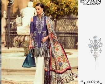 Elan Lawn 2017, shalwar kameez, women clothing, colorful kameez, pakistani/indian/bengali clothes, ethnic clothes