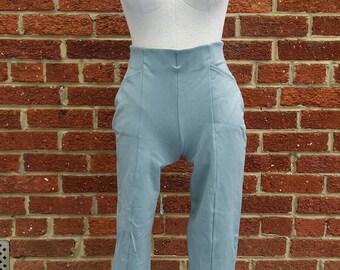 Vintage 80s 90s High Waist Stretch Pants // Stirrup Leg // The Limited Size M