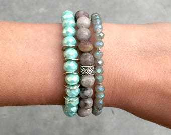 Turquoise Beaded Bracelet Stack