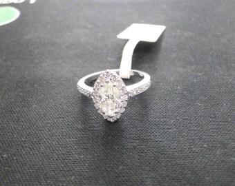 Fabulous! handmade solid 18 carat white gold jewelry Diamond Ring