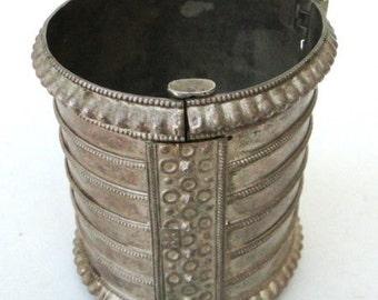Ethnic Tribal Old Silver Jewelry Cuff Bracelet Bangle