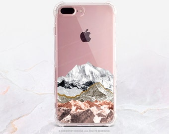 iPhone 7 Case Pastel Mountains Clear GRIP Rubber Case iPhone 7 Plus Case iPhone 6 Case iPhone 6S Case iPhone SE Case Samsung S7 Edge U209