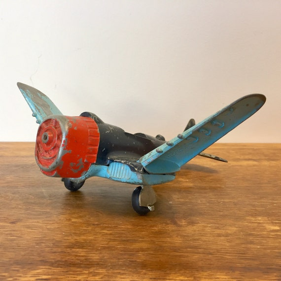 Toy Airplane - Collectable Toys - Nostalgic Toys - Diecast Airplanes - Kids Room Decor - Vintage House Decor - 1960s Toys