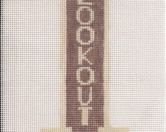 Lookout Steak House Needlepoint Ornament