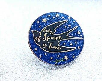 """OFFER!! Zireael """"Lady of Space and Time"""" Pin - Ciri The Witcher Pin - Cirilla Pin with swallow silhouette"""