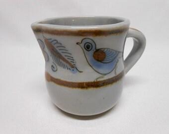 El Palomar Creamer Mexico Ken Edwards Pottery Bird Motive Vintage