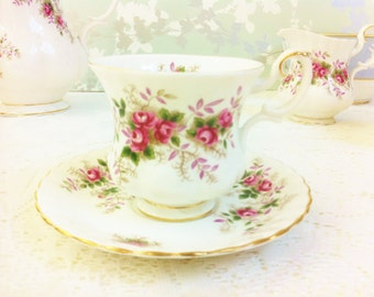 "Royal Albert ""Lavender Rose"" Demi Tasse Tea Duo"