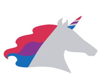 Bi Unicorn Decal