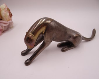 Signed Loet Vanderveen Bronze Animal Sculpture - Cheetah