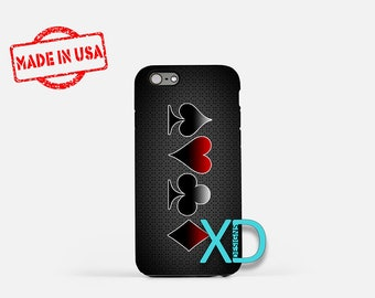 Poker Suits iPhone Case, Suits iPhone Case, Poker Suits iPhone 8 Case, iPhone 6s Case, iPhone 7 Case, Phone Case, iPhone X Case, SE Case