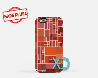 Square Design iPhone Case, Geometric iPhone Case, Square iPhone 8 Case, iPhone 6s Case, iPhone 7 Case, Phone Case, iPhone X Case, SE Case