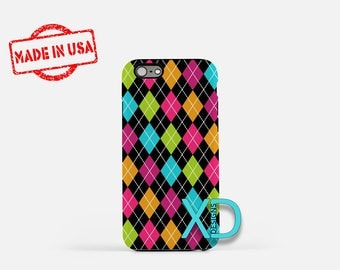 Argyle iPhone Case, Pattern iPhone Case, Argyle iPhone 8 Case, iPhone 6s Case, iPhone 7 Case, Phone Case, iPhone X Case, SE Case