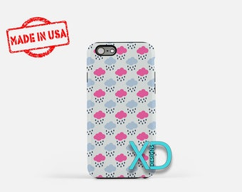 Sprinkle Phone Case, Sprinkle iPhone Case, Rain Cloud iPhone 7 Case, Blue, Pink, Rain Cloud iPhone 8 Case, Sprinkle Tough Case, Clear Case