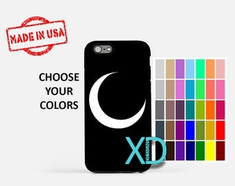 Simple Moon iPhone Case, Crescent Moon iPhone Case, Moon iPhone 8 Case, iPhone 6s Case, iPhone 7 Case, Phone Case, iPhone X Case, SE Case