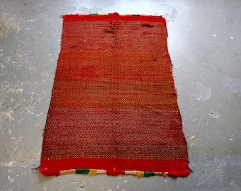 Antique Mexican Flatweave Kelim Rug (3514)