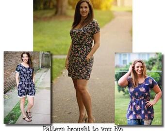 Mama Lea Tunic, Dress & Romper PDF Sewing Pattern Sizes