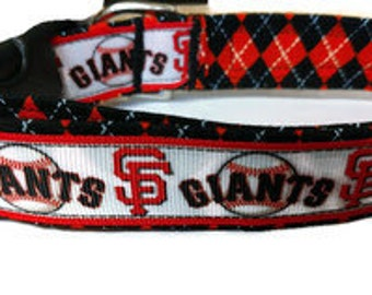 San Francisco Giants Dog Collar, Giants dog collar, baseball dog collar