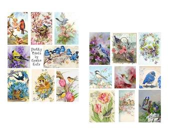 Pretty Birds Digital Collage Set