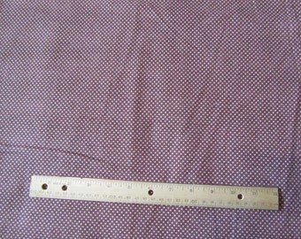 Brown Mini Polka Dot Flannel Fabric by the Yard