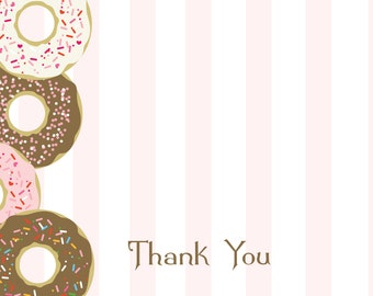 Donut Birthday Party Thank You Note
