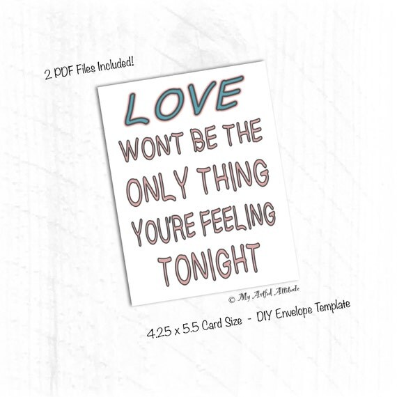 PRINTABLE Card Naughty Girlfriend Valentine Card Funny Boyfriend