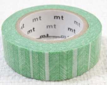 """Japanese Designer Tape """"mt Deco"""" Freehand drawing """"BORDER"""" in Bamboo 15mm x 10 meters"""