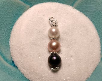 MADE TO ORDER!!!!  Pendant Drop for Two, Three, Four, or Five pearls!!!