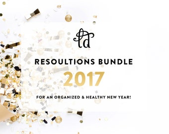 Resolutions Bundle - Healthy and Organized - Clean Home, Productivity, Health and Fitness, and Budget Kits - INSTANT DOWNLOAD