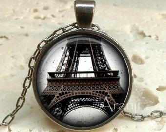 Eiffel Tower art pendant, Paris necklace, Eiffel Tower necklace, Eiffel Tower jewelry, Paris necklace, Paris pendant, Paris Pendant #SP147GM
