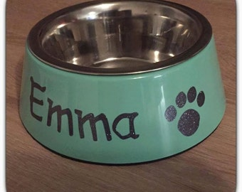 Dog bowl / cat Bowl - Bowl, personalized, individually, many colors