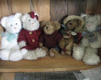 Boyds Bears Cats-Vintage Stuffed Cat-Collectible-Boyds Bears-Cat stuffed animal-Boyds Cats