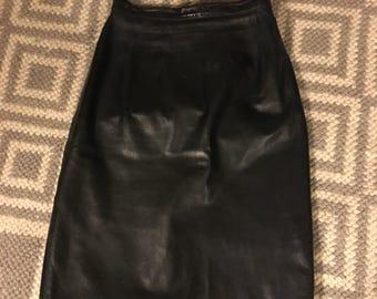 Vintage leather skirt **SPRING SALE**