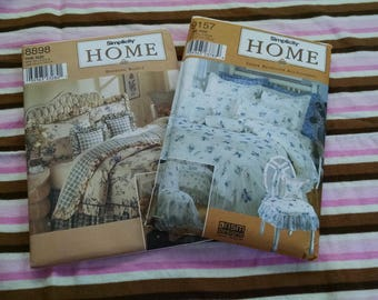 Uncut Bedding/Home Decor Sewing Patterns Lot of 2
