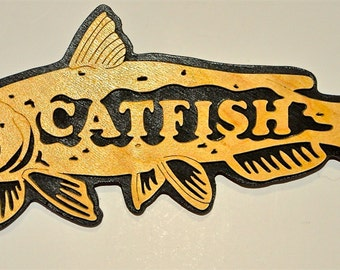 Catfish Scroll Saw Wall Plaque